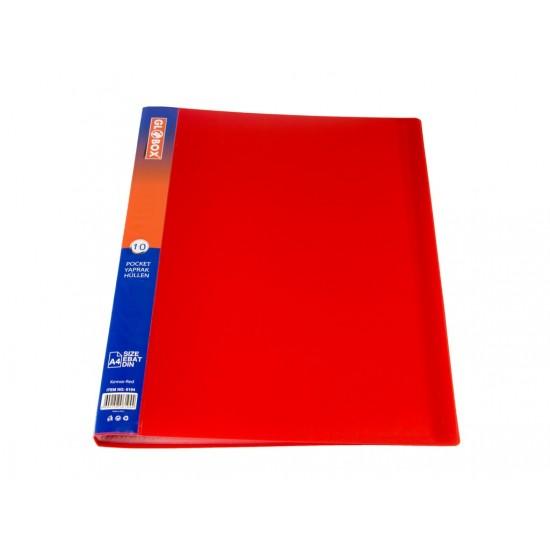 Dosar cu folii incluse 10 file rosu - 4104