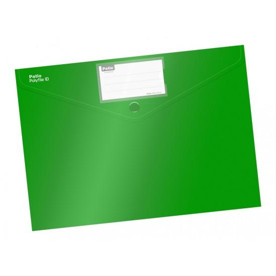 Mapa cu buton a4 culori mate verde - 2802