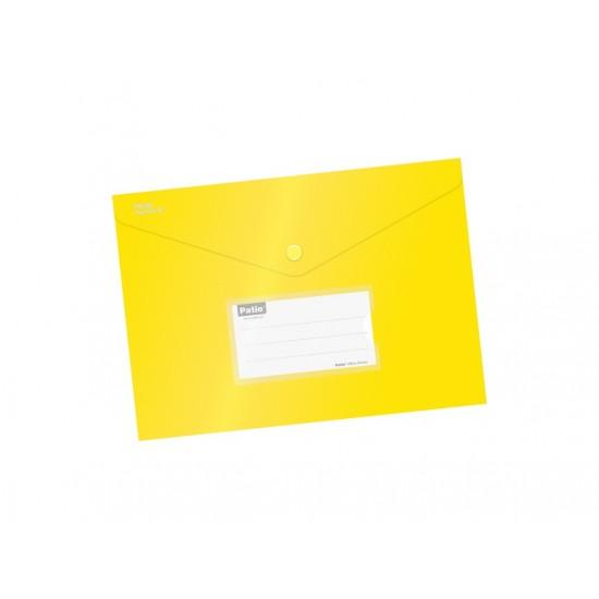Mapa cu buton a5 culori mate galben - 5111