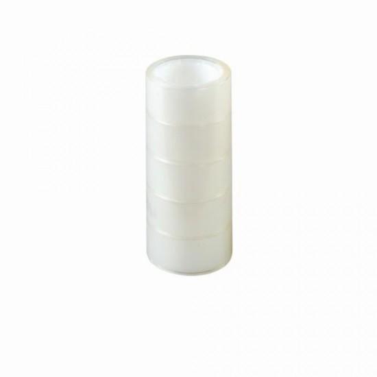 Banda adeziva 19mmx10m transparenta set5 - 10410439