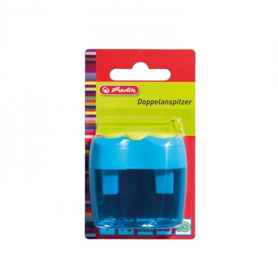 Ascutitoare dubla plastic bicolora/blister - 10921112