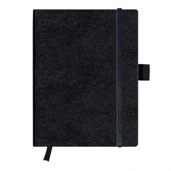 Bloc notes 19x24,5cm 96 file coperta din piele sintetica cu elastic my.book classic - 11155843