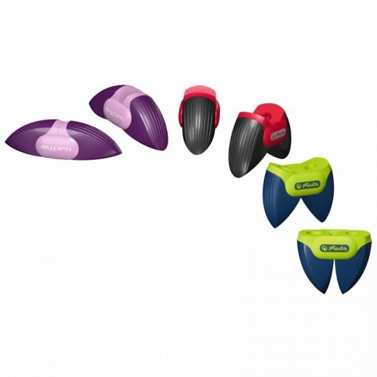 Ascutitoare plastic dubla my.pen 3 combinatii de culori - 11309341