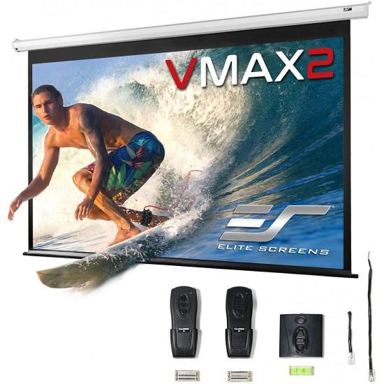 Ecran de proiectie electric, 298,9 x 168,1 cm,  elitescreens vmax135xwh2, 2 telecomenzi, format 16:9, trigger 12v - 16/9EL300-VMAX135XWH2