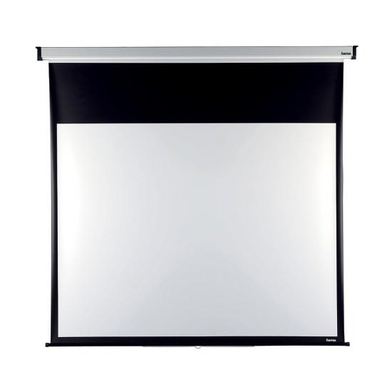Ecran de proiectie de perete, rulabil, dimensiune 200 x 200 cm - 3046