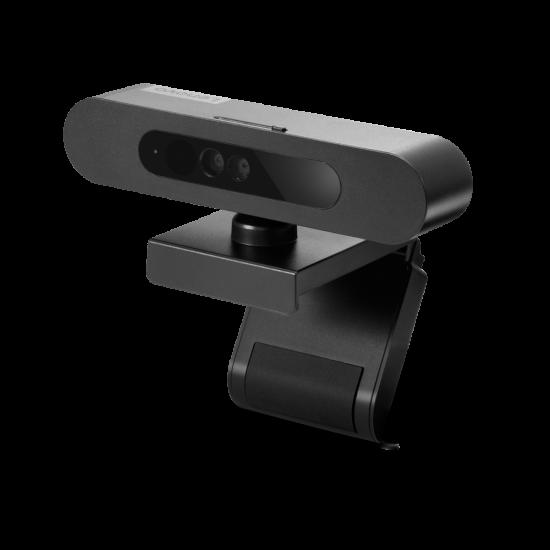 Camera web lenovo 500 fhd, wired, power input 5 v, 900 ma, 107 x 63 x 50.4mm, 123 g w/o usb cable, black - 4XC0V13599