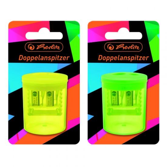 Ascutitoare plastic dubla neon art - 50028078