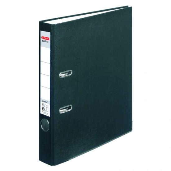 Biblioraft a4 5cm pp negru herlitz - 5450804