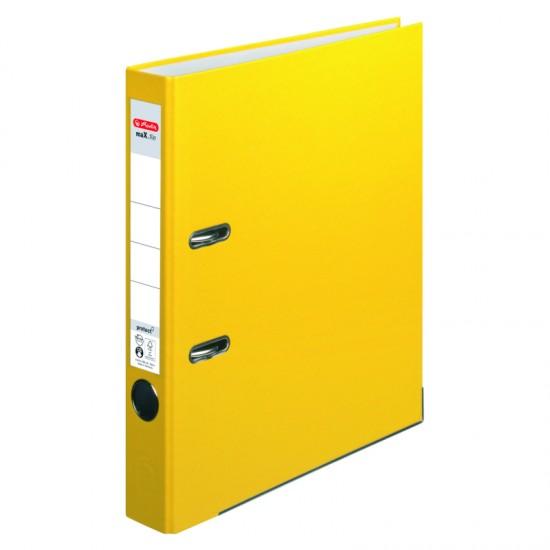 Biblioraft a4 5cm pp galben herlitz - 5451307