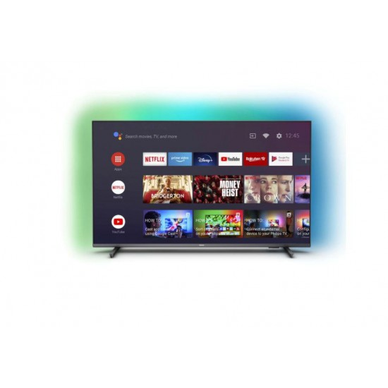 Led tv 55 philips 55pus7906/12, 139 cm, smart, 4k ultra hd, led, clasa g, hdr, android, youtube, netflix, hbogo, screen mirroring, ambilight, inregistrare usb, asistent vocal inteligent ready, ios, android, 16 gb, 3840 x 2160, hdr - 55PUS7906/12
