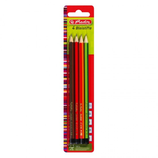 Creion  grafit mina h, hb, b, 2b, set 4 - 8670051