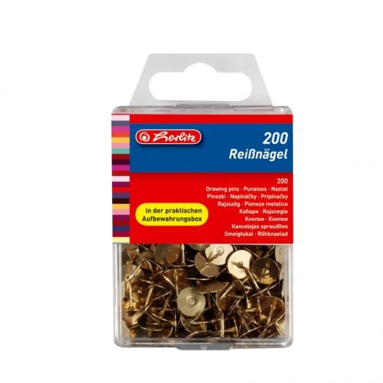 Pioneze metalice aurii 200bucati/cutie - 8770208