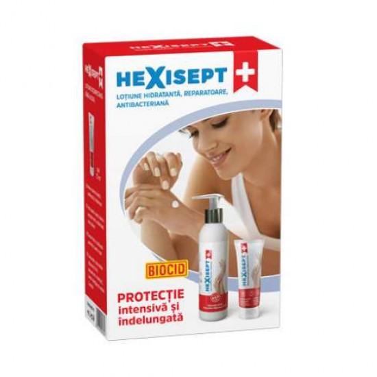 Hexisept+  lotiune hidratanta antibacteriana 250ml + 75ml cadou - 9486490
