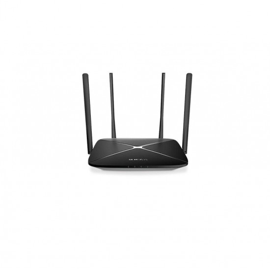 Ac1200 wireless dual band gigabit router mercusys, ac12g; wireless standards: ieee 802.11a/n/ac 5 ghz, ieee 802.11b/g/n 2.4 ghz; frequency: 2.4 - 2.5ghz, 5.15 - 5.85ghz; 4x fixed omni-directional antennas; signal rate: 300 mbps at - AC12G