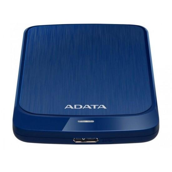 Hdd extern adata, 1tb, hv320, 2.5, usb 3.1, senzor protectie socuri, criptare date, ultraslim, albastru - AHV320-1TU31-CBL