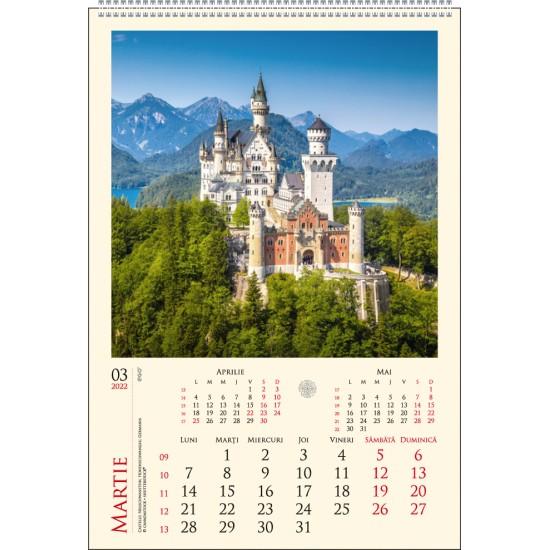 Calendar de perete castele                   - CPC