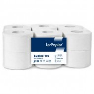 Hartie igienica mini-jumbo, lepapier, alba - 400 grame/bucata - J24-40B
