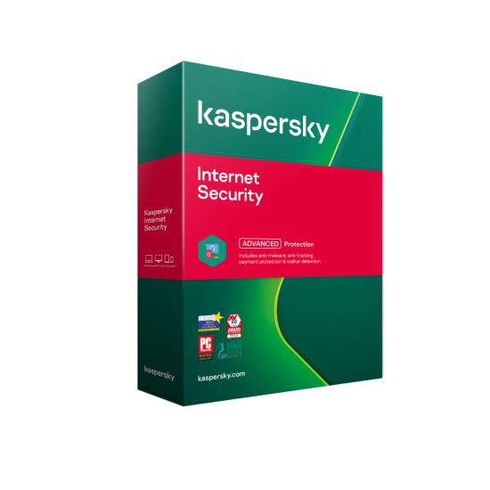 Licenta retail kaspersky internet security - anti-virus pentru pc, mac si dispozitive mobile, protectia identitatii, securizare tranzactii bancare, valabila pentru 1 an, 1 echipament, new - KL1939O5AFS