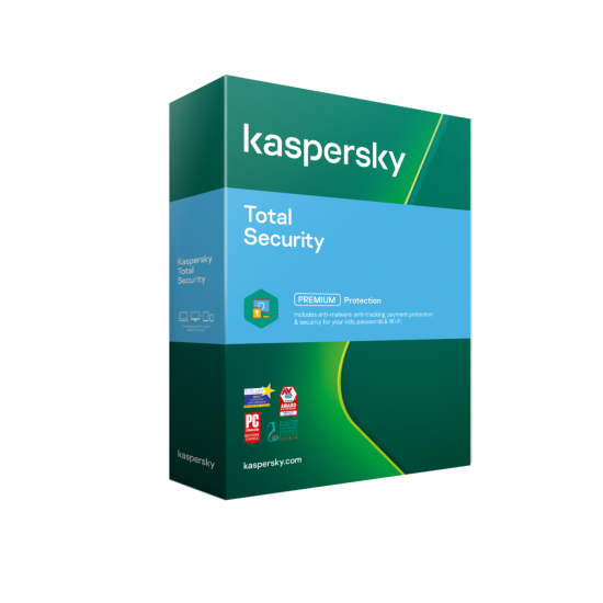 Licenta retail kaspersky total security valabila pentru 1 an, 1 echipament, new - KL1949O5AFS