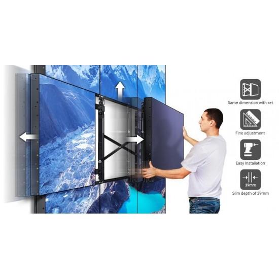 Ecran videowall lfd monitor samsung ud55e, 55 (140cm), fhd, bezel 3.5mm (2.3+1.2), luminozitate 500nit, timp raspuns 8ms, contrast 4000:1, haze 44%, [...]; conectivitate: input: 1xd-sub, 1xdvi, 1xdp1.2, 2xhdmi, hdcp2.2, 1xusb pt f - LH55UDEBLBB/EN
