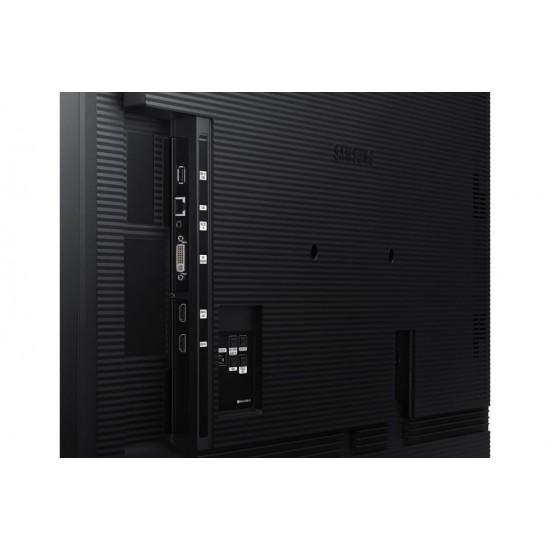 Ecran profesional lfd monitor signage samsung qb65r, 65 (165cm), uhd, operare 16/7, luminozitate 350nit, timp raspuns 8ms, contrast 4000:1, haze 2%, tizen 4.0, magicinfo s6, [...]; conectivitate: wifi, bt; input: 1xdvi, 2xhdmi 2.0 - LH65QBREBGCXEN