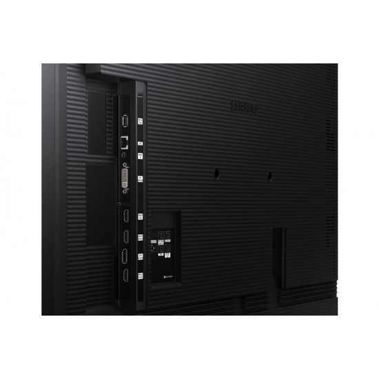 Ecran profesional lfd monitor signage samsung qm65r, 65 (165cm), uhd, operare 24/7, luminozitate 500nit, timp raspuns 8ms, contrast 4700:1, haze 25%, tizen 4.0, magicinfo s6, [...]; conectivitate: wifi, bt; input: 1xdvi, 1xdp1.2,  - LH65QMREBGCXEN