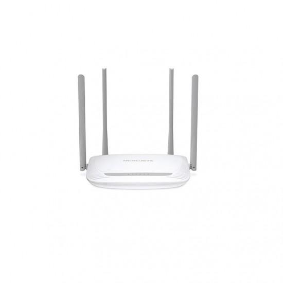 Router wireless mercusys n 300 mbps, mw325r; standarde wireless: ieee 802.11n, ieee 802.11g, ieee 802.11b; frecventa: 2.4 - 2.5ghz; 3x porturi lan 10/100mbps, 1x port wan 10/100mbps; 4x 5dbi antene omnidirecţionale nedetasabile;  - MW325R