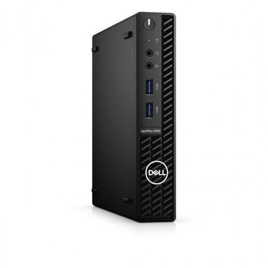 Desktop dell optiplex 3080 mff, i3-10105t, 8gb, 256gb ssd, ubuntu - N212O3080MFF_UBU