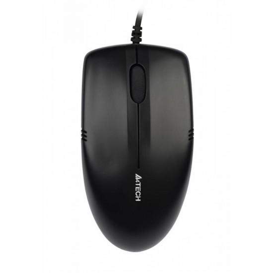 Mouse a4tech cu fir, v-track op-530nu, negru - OP-530NU
