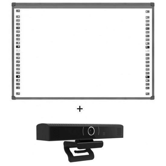"Pachet tabla interactiva 85"" evoboard ib-85, 4:3, tehnologie optica cu 2 camere si  webcam all-in-one ,seeup, usb - PAC-EV-IB85-WDI-SEEUP"