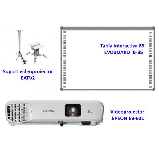 Pachet interactiv evoboard ib85 + epson eb-e01 + eatv2 - PAC-IB85-E01-EATV2