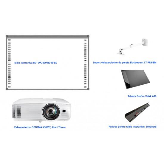 Pachet interactiv evo ib85 + x309st + prb8m + opentray + tableta a30 - PAC-IB85-X309ST-PRB8M-OTRAY-A30