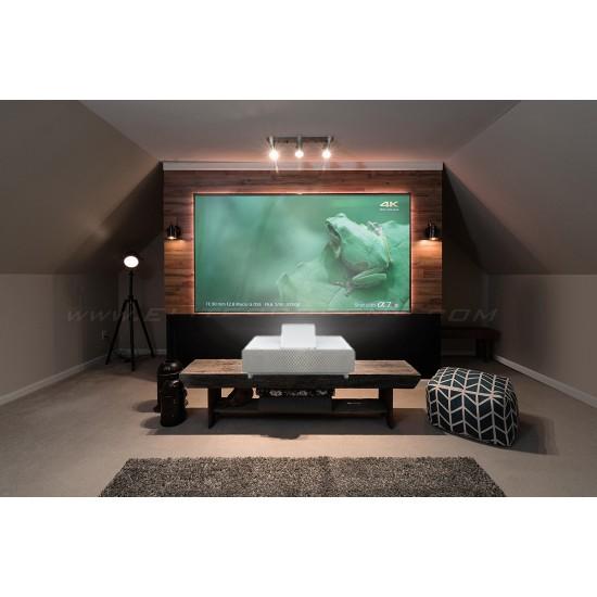 Epson projection tv 4k eh-ls500w android si ecran fix perete, elitescreens alr dedicat ptr ust aeon ar120h-clr, 16:9 - PAC-LS500W-ANDROID+AR120H-CLR