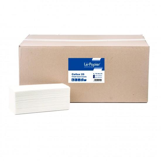 Prosoape hartie pliate in v lepapier cellux 25, 2 straturi, 160 buc./set - PZ24-L16