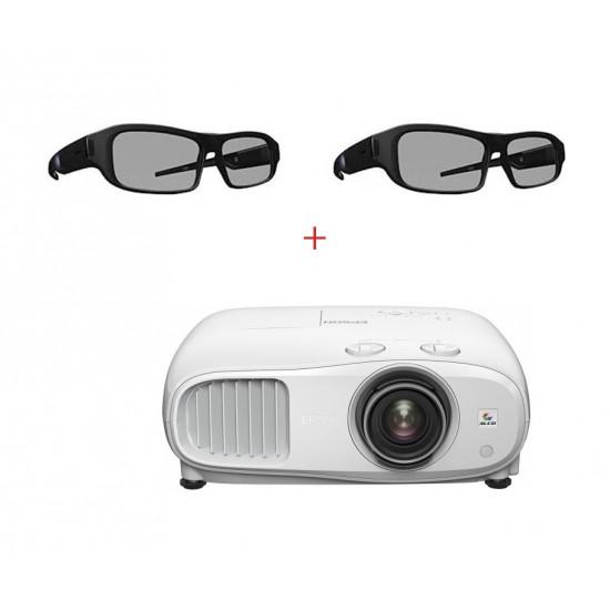 Pachet homecinema cu  epson eh-tw7000, 4k pro-uhd si 2 perechi de ochelari 3d activi - PACHET EH-TW7000+X05RF
