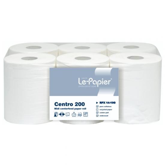 Rola prosop hartie midi, 1 strat, alba lepapier - 200 metri - RPX14-10G