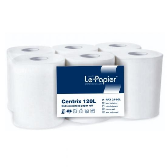 Rola prosop hartie 2 straturi, alba lepapier - 115 metri - RPX24-90L