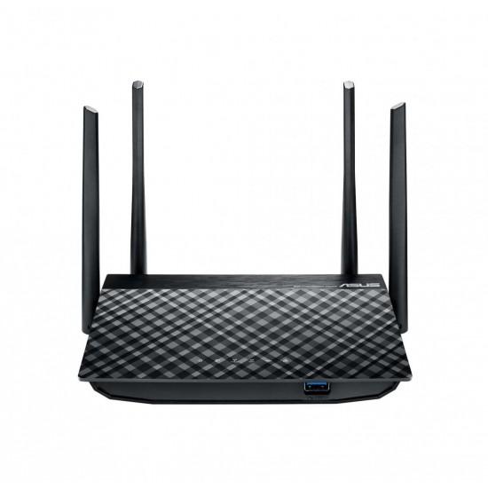Asus wi-fi gigabit router ac1300 dual-band, rt-ac58u v2, ieee 802.11a, ieee 802.11b, ieee 802.11g, ieee 802.11n, ieee 802.11ac, ipv4, ipv6, external antenna x 4, mimo technology: 2.4 ghz 2 x 2/5 ghz 2 x 2, 2.4 ghz / 5 ghz, 64-bit  - RT-AC58U