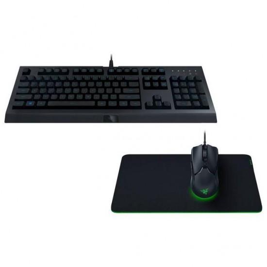 Kit tastatura si mouse razer level up bundle 3 in 1 gaming, negru - RZ85-02741200-B3M1