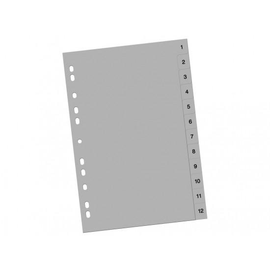 Index din plastic 1-12 - 2778