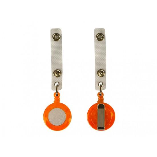 Clip cu fir retractabil portocaliu - 4026