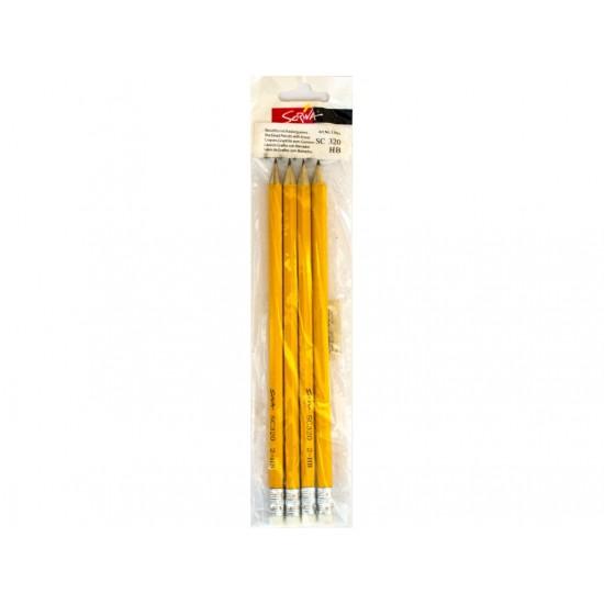 Creion cu guma scriva 4/set - 4302
