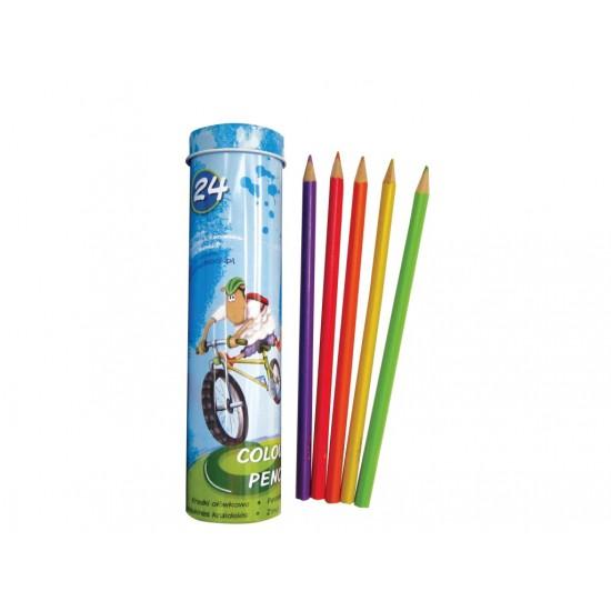 Creioane color triunghiulare lambo school 24/set - 5935