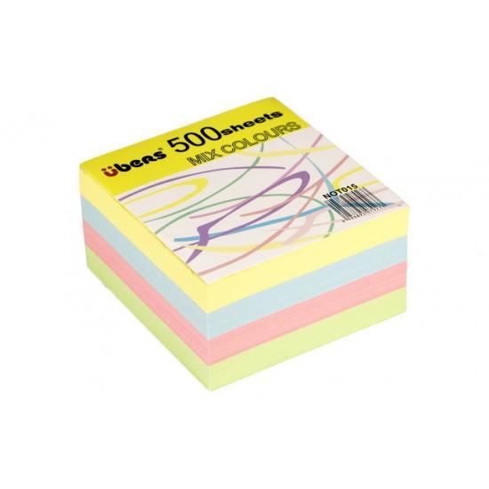 Rezerva cub din hârtie color 500 file - 6178