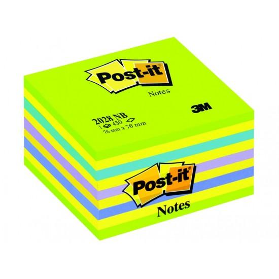 Cub notes adeziv post-it® neon 76 verde/galb - NOT072