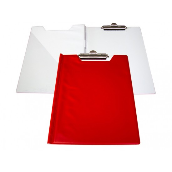 Clipboard dublu bicolor rosu/alb - CLI010