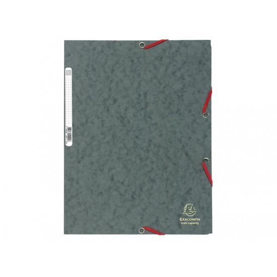 Mapa din carton cu elastic gri - MCA015