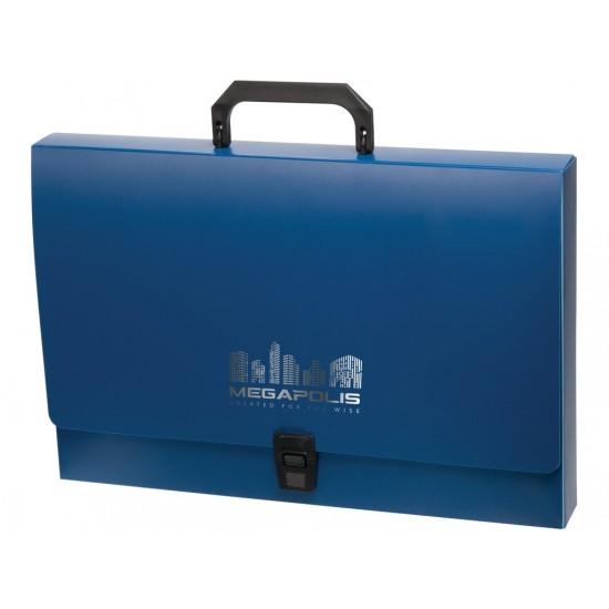 Servieta megapolis din plastic albastru - SEC016
