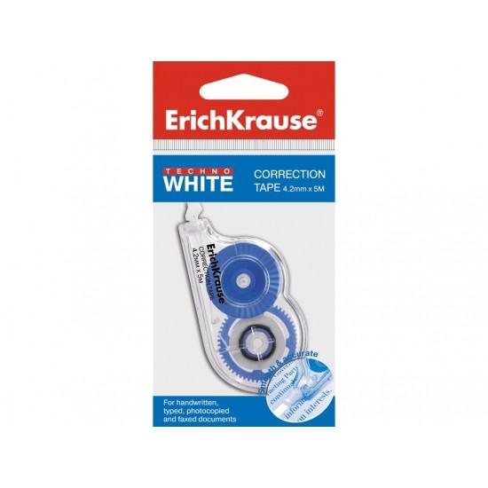 Banda corectoare erich krause techno white mini, 4,2mm x 5m - COR061