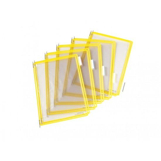 Folie a3 color pentru suport mural galben - FPA004